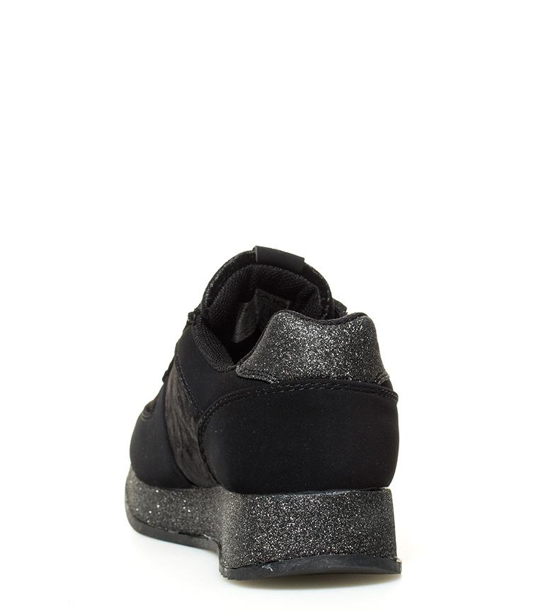 Chika10 01 Altura Zapatillas interior Saray 5cm negro cuña zErzq