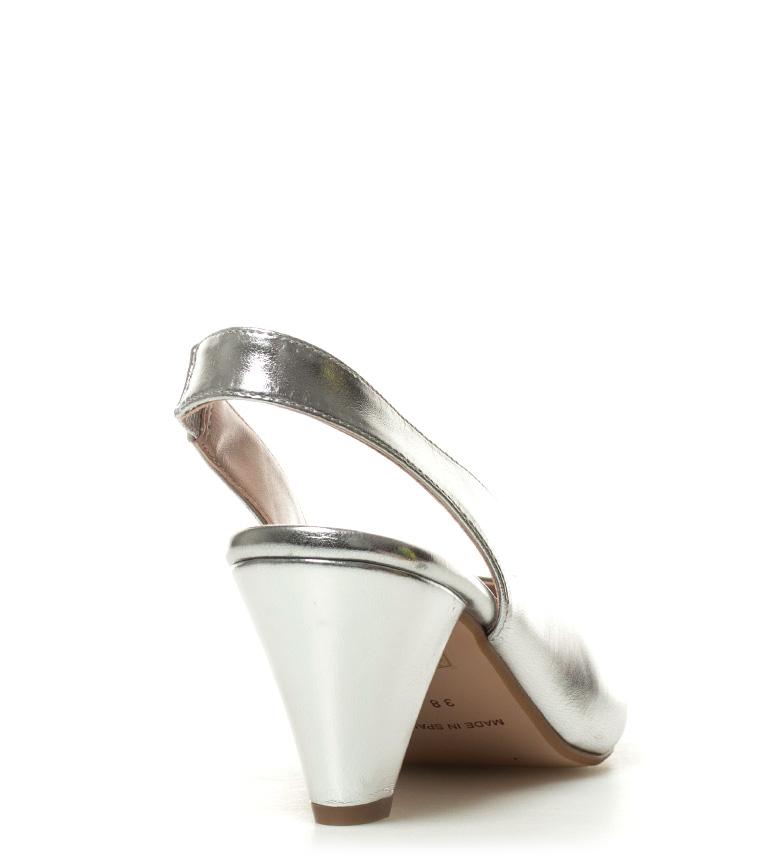 metal 8cm plata tacón Chika10 02 Altura Zapatos Lauper HCfwCqxI0