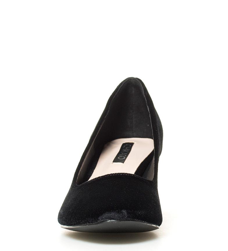 Leya Altura Zapatos 01 br 6cm negro br tacón Chika10 TSCx5
