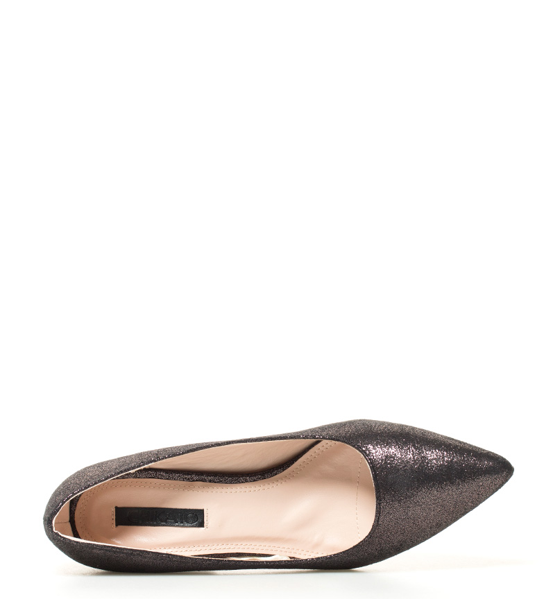 glitter negro Zapatos i br 6cm 02 br Altura Liv tacón Chika10 i qaHp7w