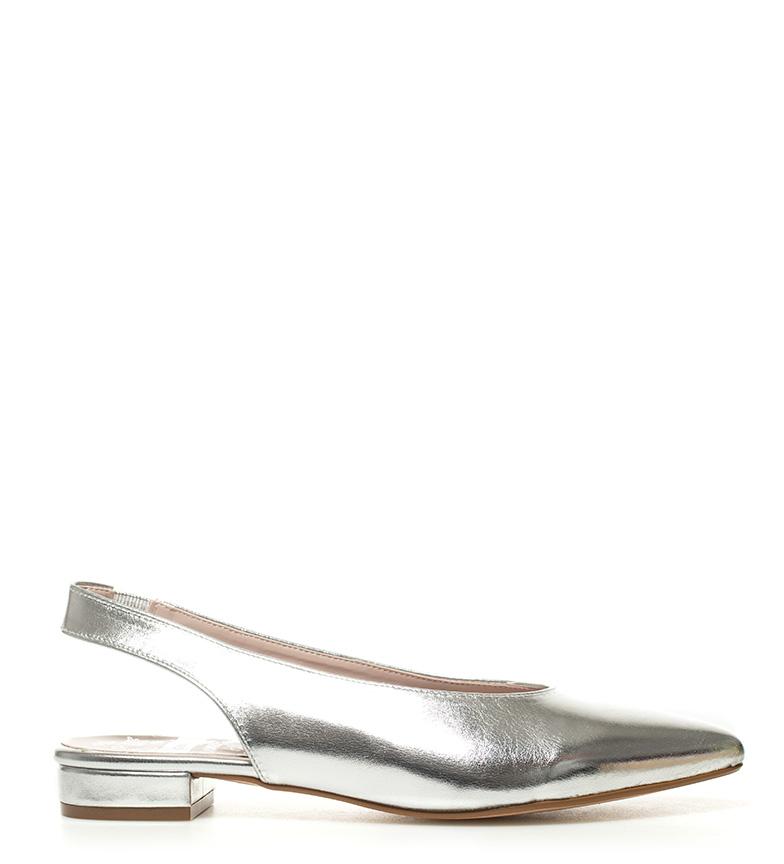 Chika10 - Zapatos Lorena 01 plata metal Yqcpb