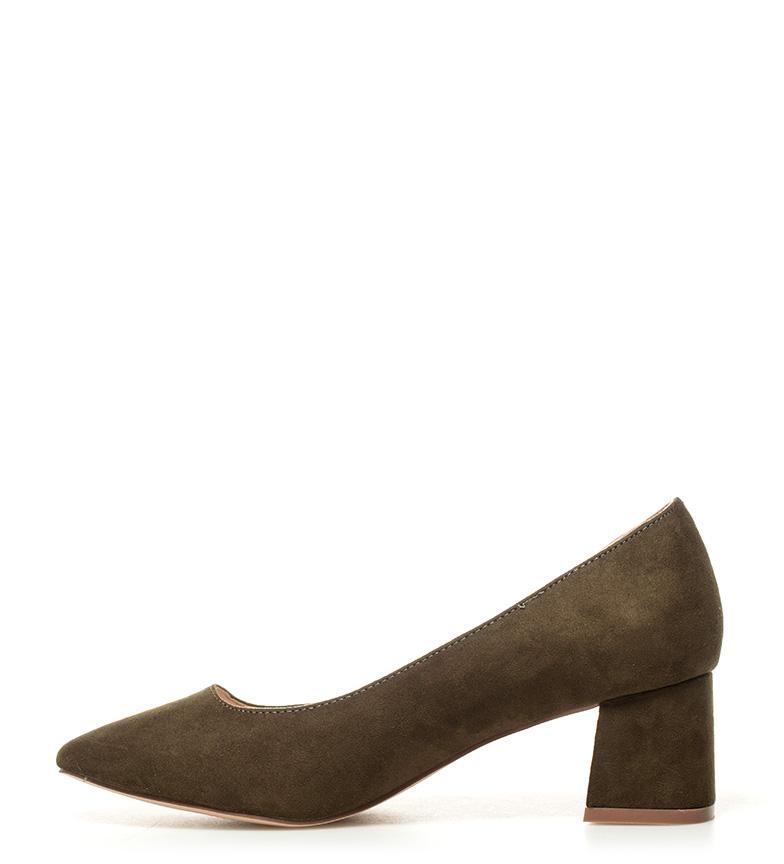 tacón Naia Zapatos 5cm Altura 01 Chika10 kaki 5 WgR6nAAa