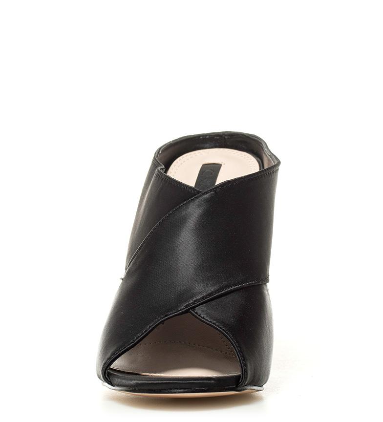 tacón Altura negro Zueco Ada Chika10 05 raso 10cm PxTBA6qwY