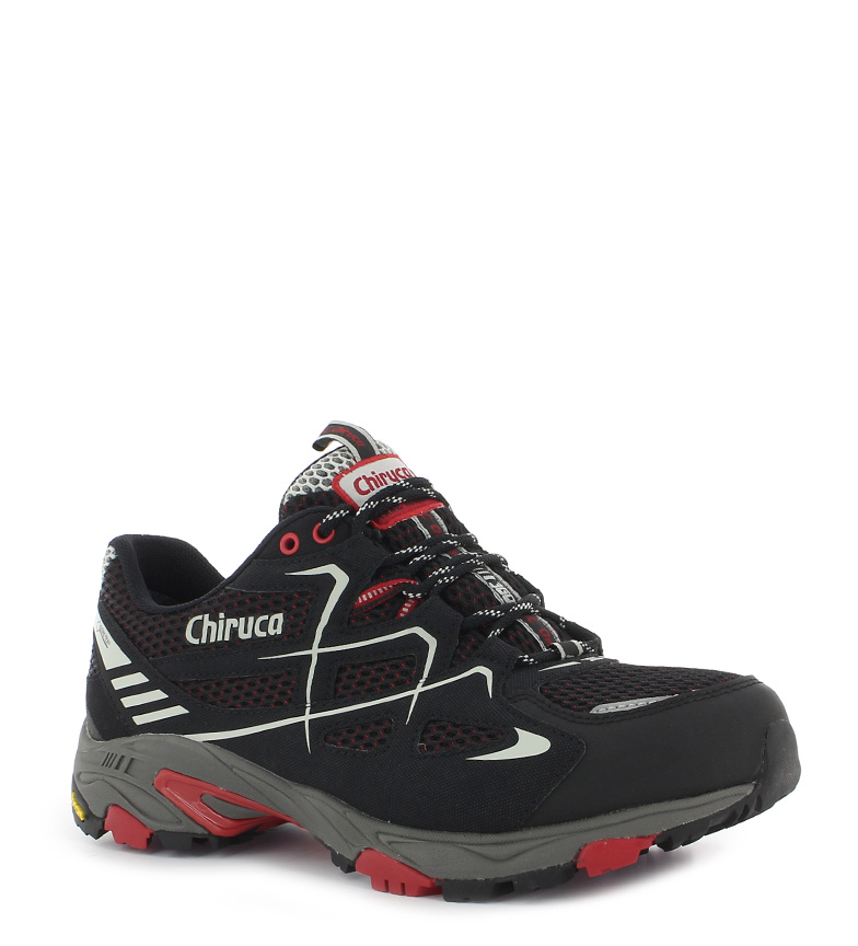 Chiruca Zapatillas trail running Spider Gore Tex negro, rojo 367g