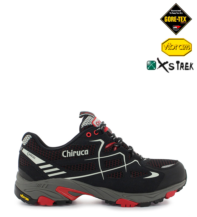 367g Chiruca negro rojo running Tex Zapatillas Spider Gore trail rUSxpr