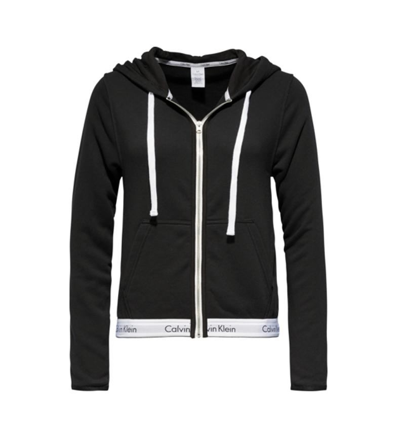 Comprar Calvin Klein Felpa nera con zip intera