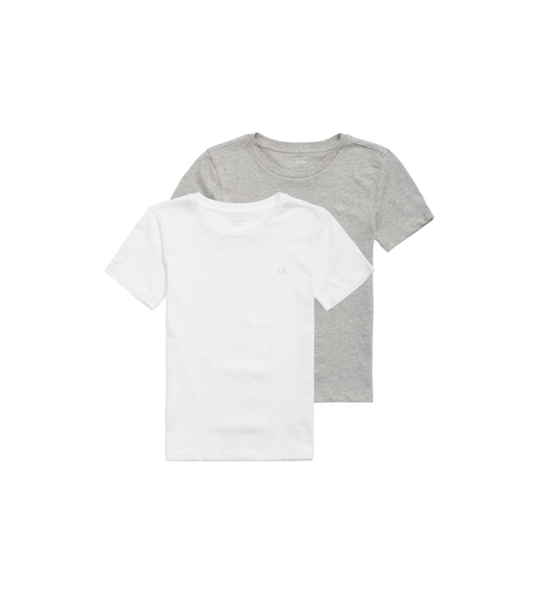 Calvin Klein Lot de 2 t-shirts blanc, gris