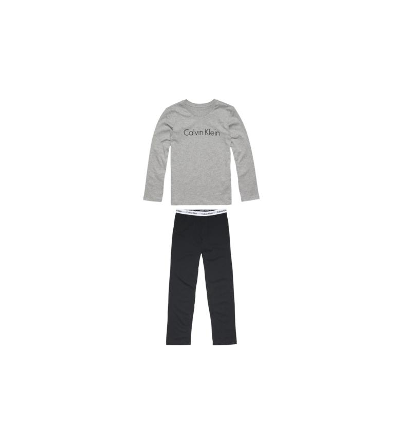 Comprar Calvin Klein Pijama de manga comprida cinza, preto