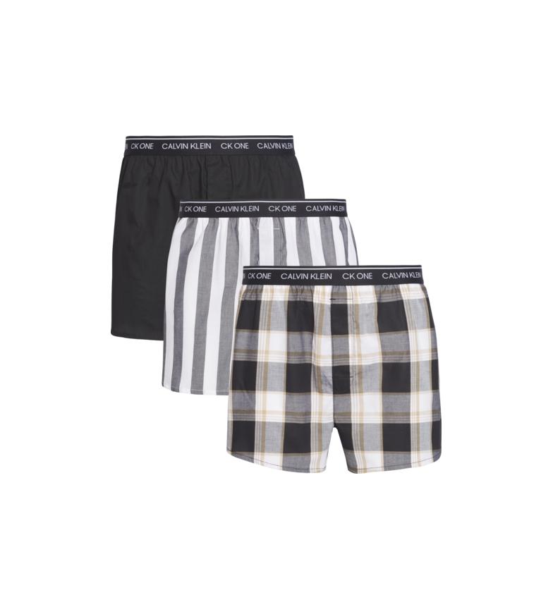Comprar Calvin Klein Pacote de 3 boxers Slim Fit multicolor, preto