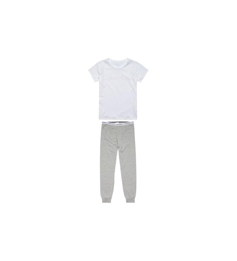 Calvin Klein Pijama de manga curta cinzento