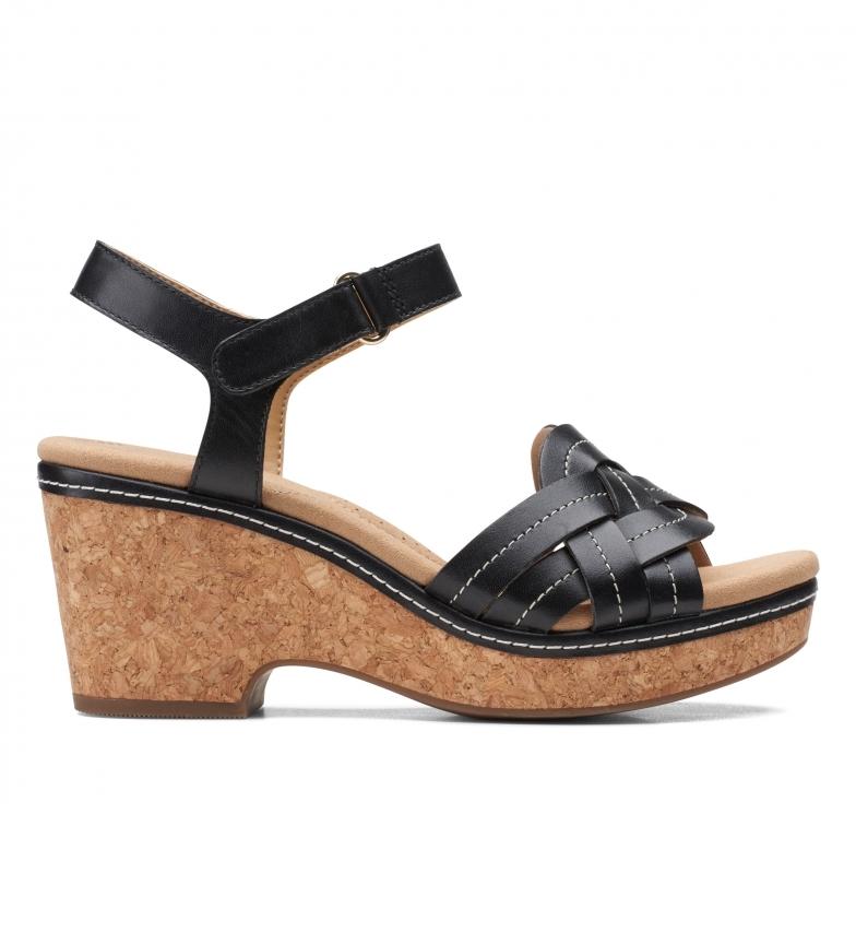 Comprar Clarks Sandales Giselle Coast en cuir noir -Hauteur du talon : 8 cm