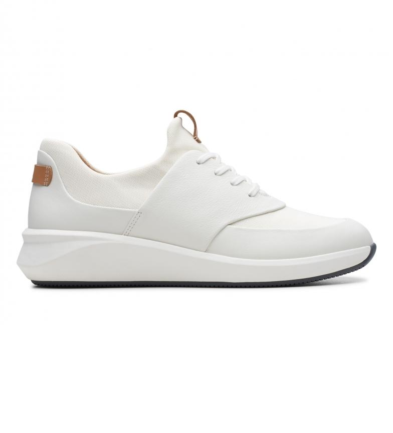 Clarks Sneaker Un Rio Lace in pelle bianca
