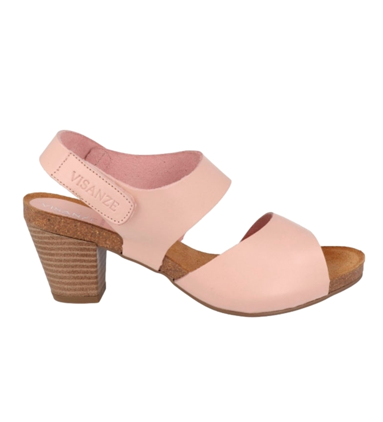 Comprar VISANZE Pilar nude leather sandal -High heel: 6cm