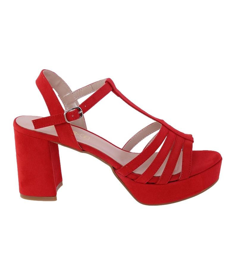 Comprar CLASSYCO Sandalia Ana rojo -Altura tacón: 8.5cm-