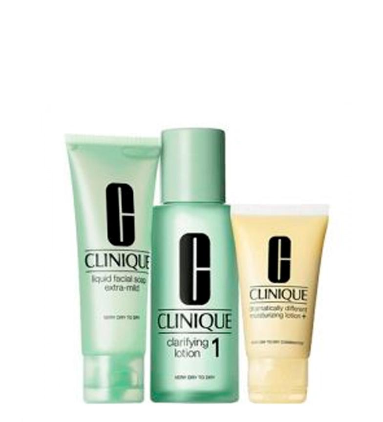 Comprar Clinique Clinic; Lot 3 étapes dans le type de peau II 3 peaux sèches et très sèches