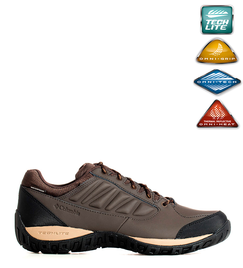 Comprar Columbia Botas de piel Chukka impermeables Ruckel Ridge Omni-Heat marrón