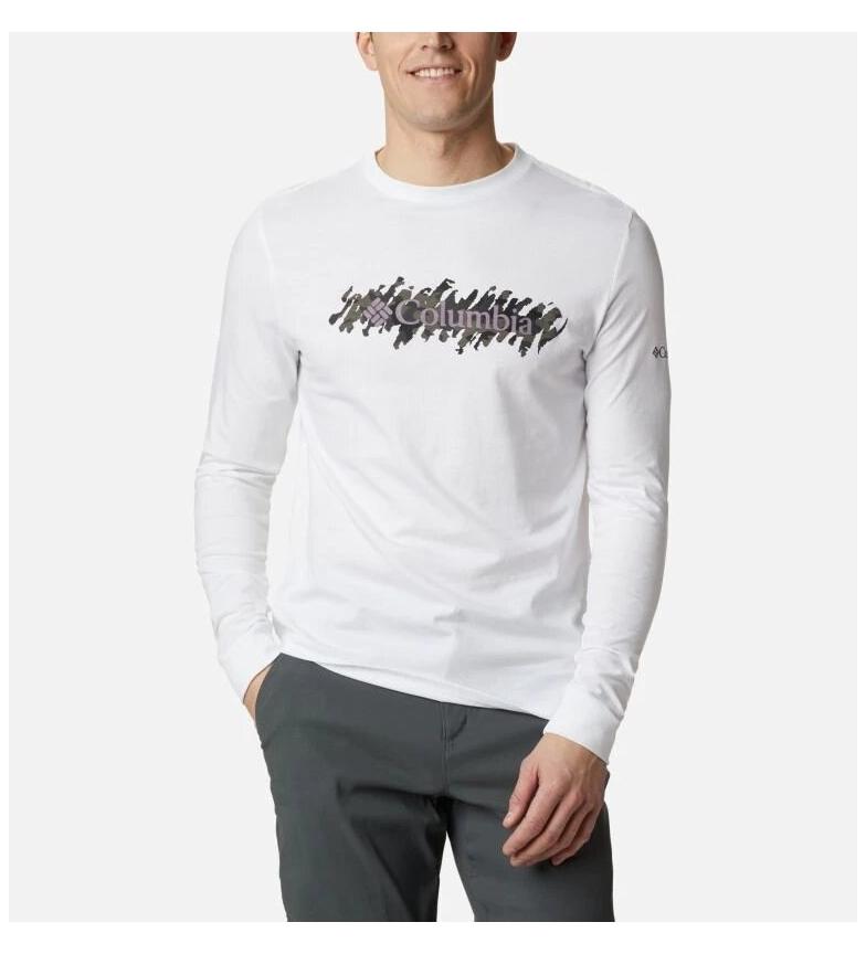 Comprar Columbia Camiseta Columbia Lodge  LS Graphic blanco