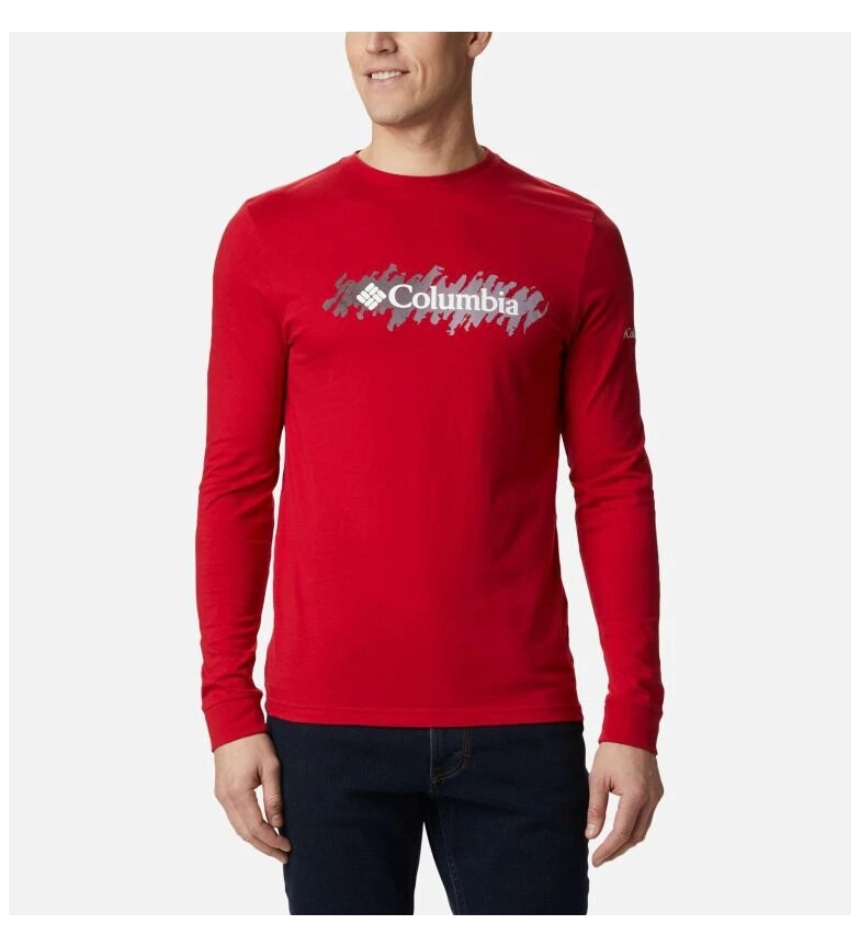 Comprar Columbia Columbia Lodge LS Graphic T-shirt red