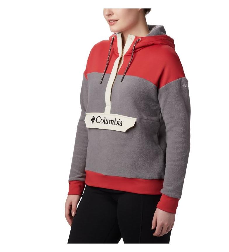 Comprar Columbia Anorak Exploration Fleece Anora grigio, rosso