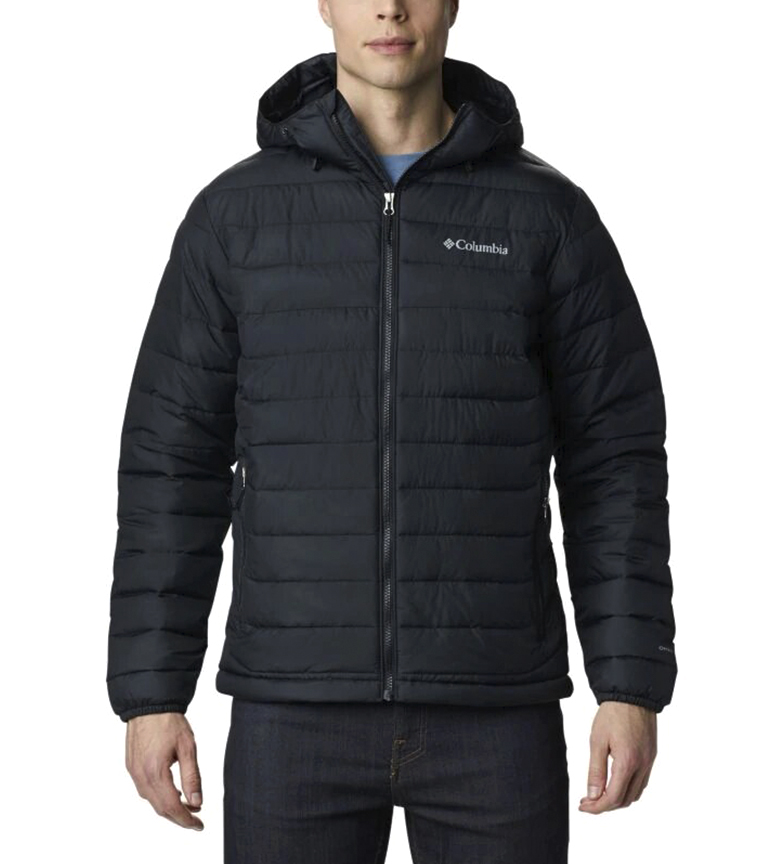 Columbia Jacket Powder Lite Hooded preto /Omni-Heat/