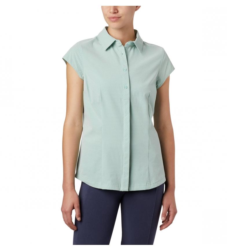 Columbia Saturday Trail II Stretch Print SS green shirt
