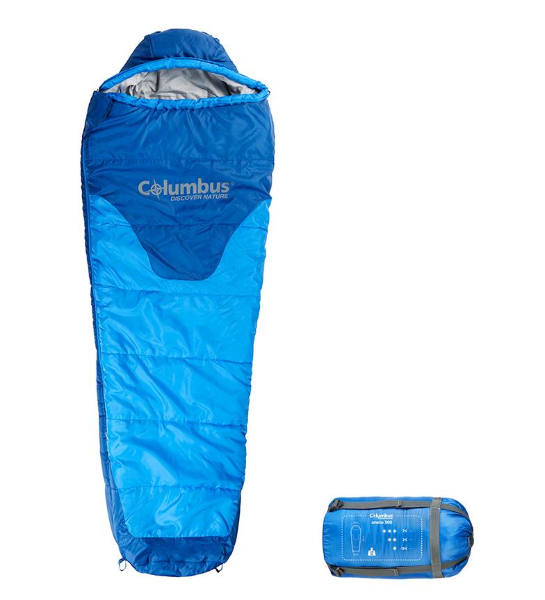 Comprar COLUMBUS Saco de dormir Aneto 300 Jr azul /  1,03 Kg / 165x65/45 cm / TªC 7ºC / TªL 2ºC / TªE -13ºC