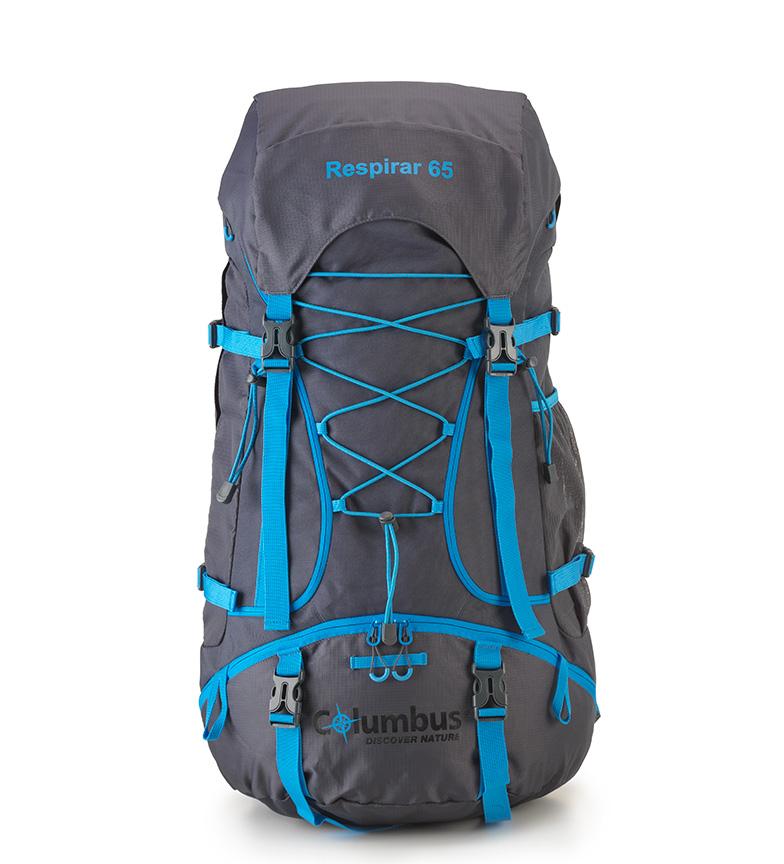 Comprar COLUMBUS Mochila Respirar 65 gris, azul / 65L / 1,8Kg / 74x38,50/34x28 cm