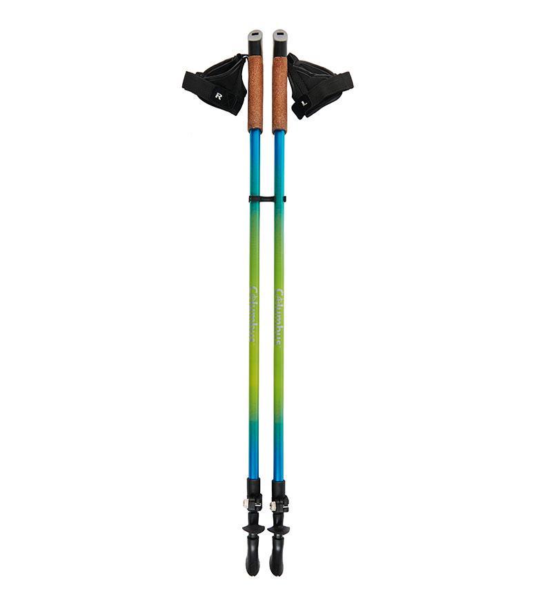Comprar COLUMBUS Bastón para marcha nórdica ND2 azul, verde / 2 u. / 85-135 cm / 240 g