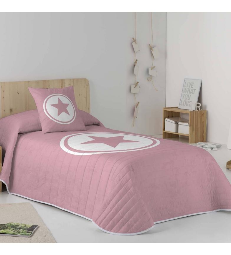 Comprar COOL KIDS Colcha reversível Ivett rosa -Cama 105cm