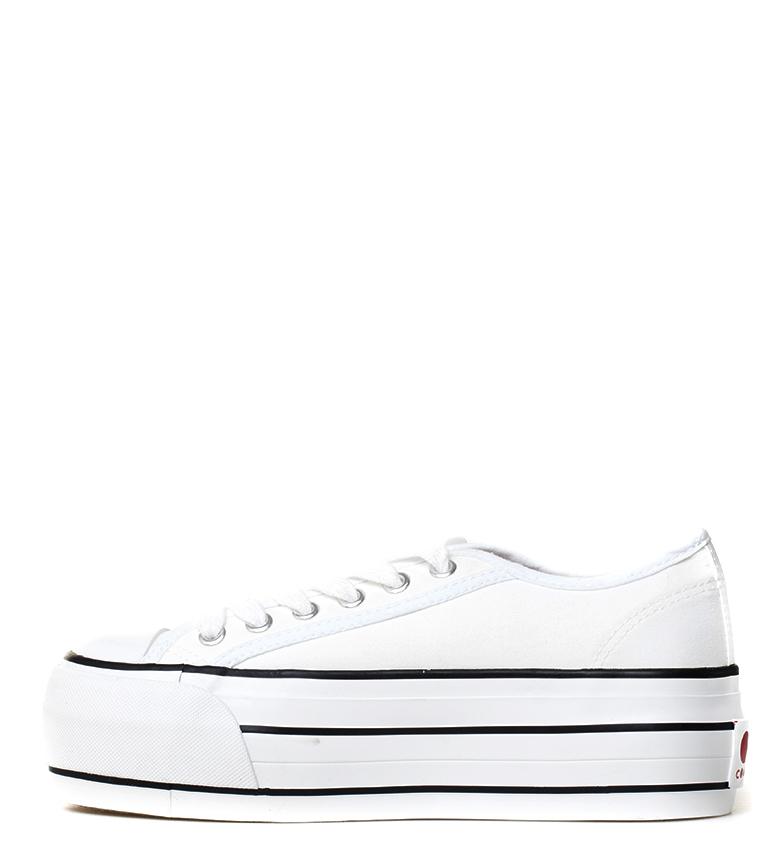 COOLWAY Zapatillas blancas Grease Mujer