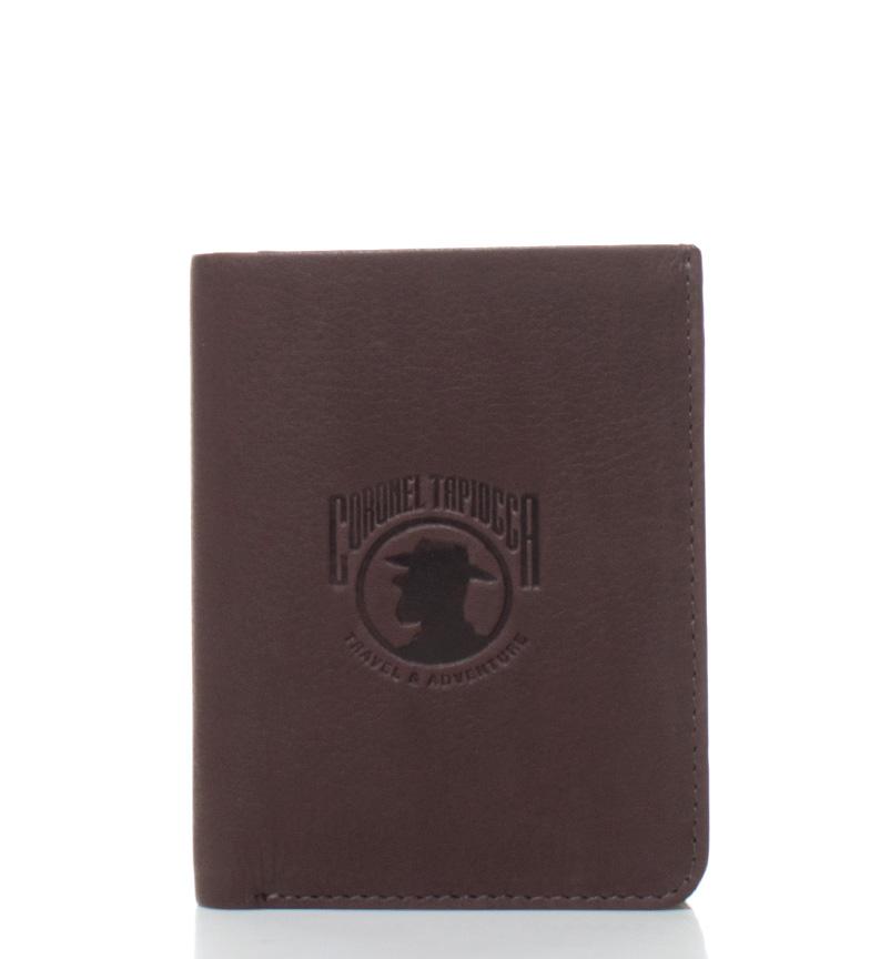 Comprar Coronel Tapiocca Billetero de piel Montcalm marrón -10x8 cm-