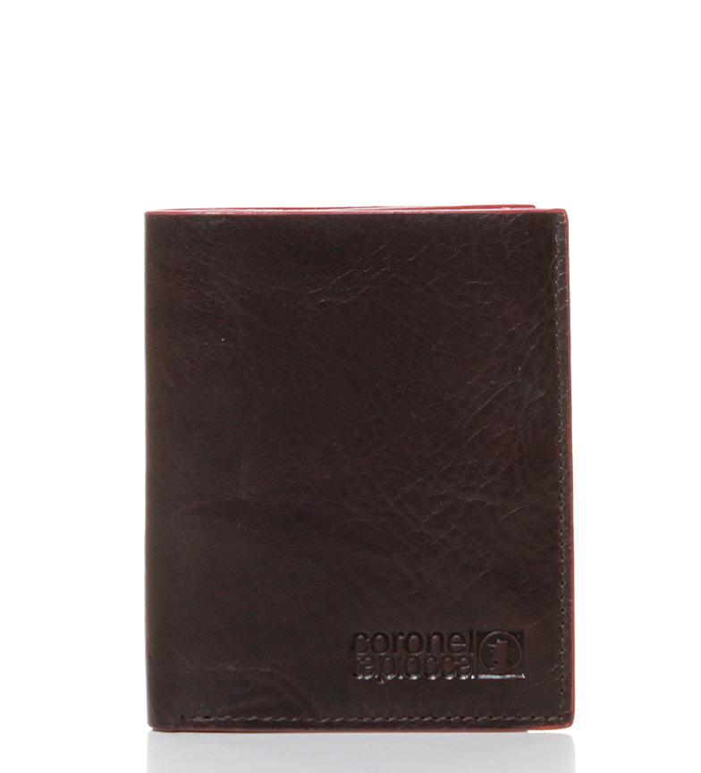 Comprar Coronel Tapiocca Billetero de piel Tapou marrón-11x8,5 cm-