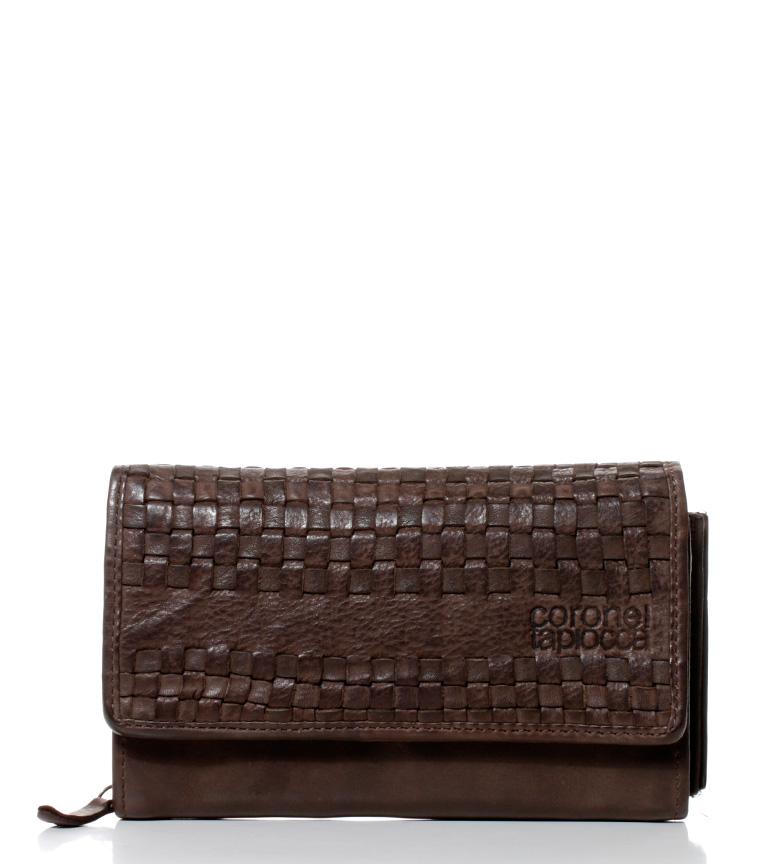 Comprar Coronel Tapiocca Billetero de piel Teide marrón -10,5x17,5 cm-