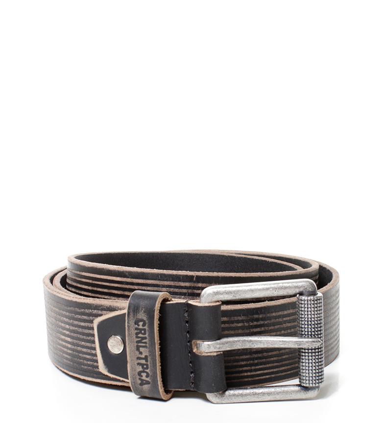Comprar Coronel Tapiocca Black leather belt CT 6511