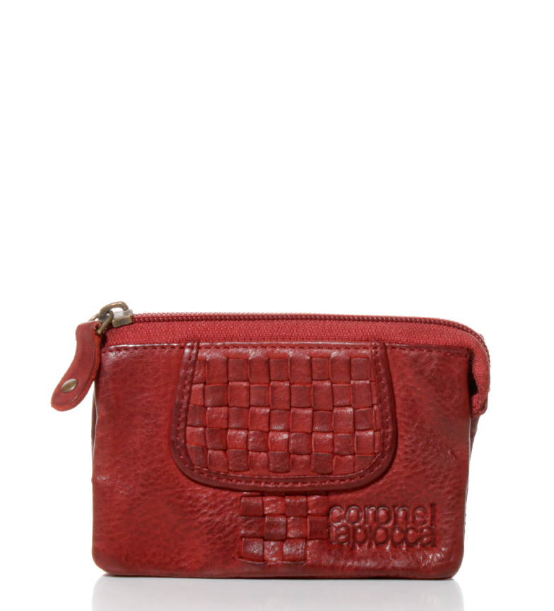 Comprar Coronel Tapiocca Red leather purse Teide -8x12,5 cm-