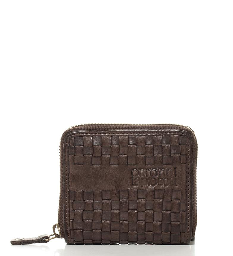 Comprar Coronel Tapiocca Portamonedas de piel Teide marrón-9x10 cm-