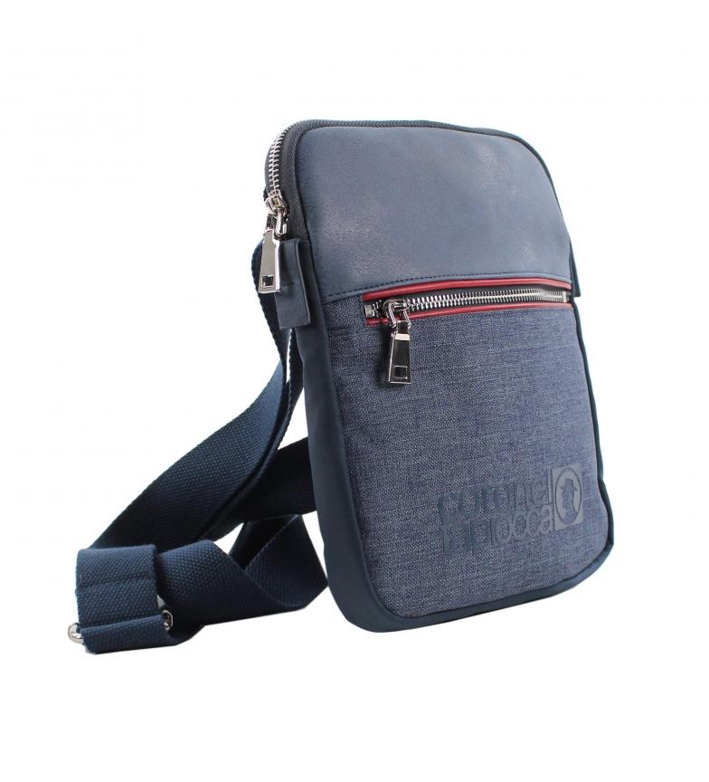Comprar Coronel Tapiocca Long sac à bandoulière rouge et bleu -25x21x4 cm