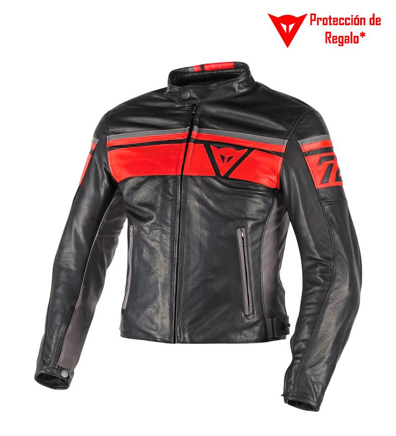 Negro De Chaqueta Rojo Blackjack Piel Gris Comprar Dainese wnUx7BqXz