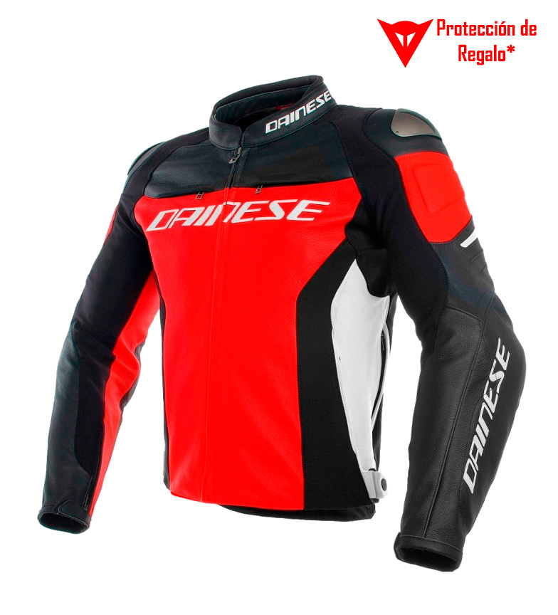 Comprar Dainese Racing leather jacket 3 black, red, white