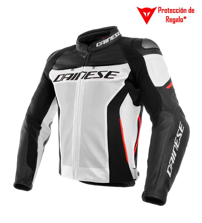 Comprar Dainese Veste en cuir Racing 3 perforée blanc, noir