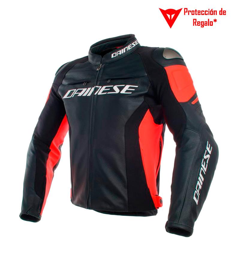 Comprar Dainese Corrida jaqueta de couro 3 perfurada preto, vermelho