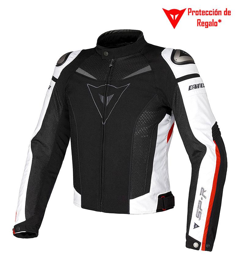 Comprar Dainese Chaqueta de piel Super Speed Tex negro, blanco, rojo