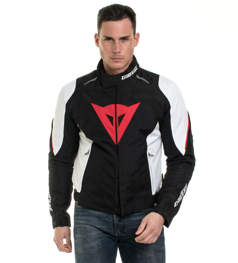 Comprar Dainese Giacca D1 D-Dry dry lagun nero, bianco, rosso