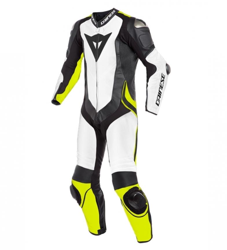 Comprar Dainese Laguna Seca 4 leather coverall 1 peça Perfurou branco, preto, amarelo
