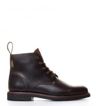 Comprar DAKOTA BOOTS Botte en cuir huilés cordon de couleur châtain Blucher, Double Cousu