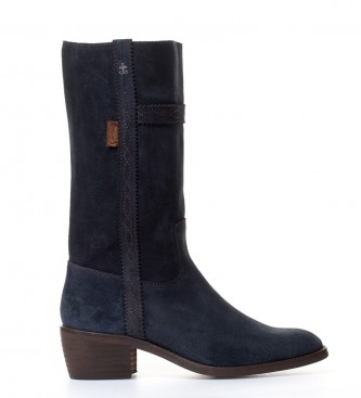 Comprar DAKOTA BOOTS Leather jacket boot low in navy blue leather Ape heel: 4,5cm-