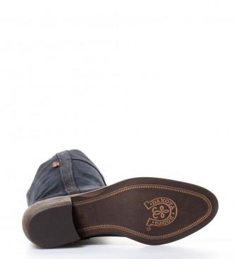 5cm color grasatto campera marino piel BOOTS DAKOTA en i Atura azul 4 de i baja tacón Bota Fa0qvx