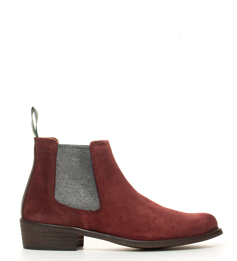 Comprar DAKOTA BOOTS Boot jacket in burgundy gray leather -Actuation heel: 4cm-