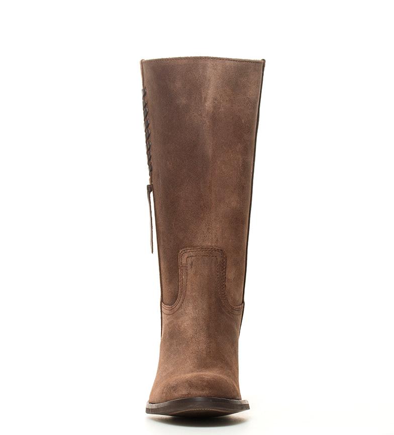 DAKOTA Bota tacón gris piel de grasatto 5cm i color i BOOTS Atura campera en rqwr75