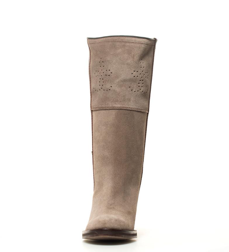 7 de campera tacón Bota en gris BOOTS grasatto piel 5cm i DAKOTA i Atura color aOE8qx